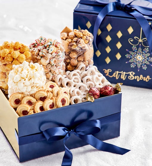 The Popcorn Factory Let it Snow Snowflake Sampler
