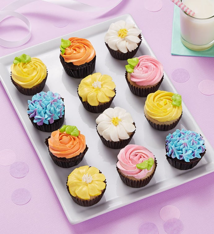Lovely Flowers Mini Artisan Cupcakes