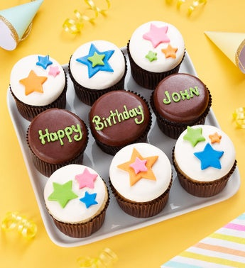 Birthday Best Personalized Artisan Cupcakes