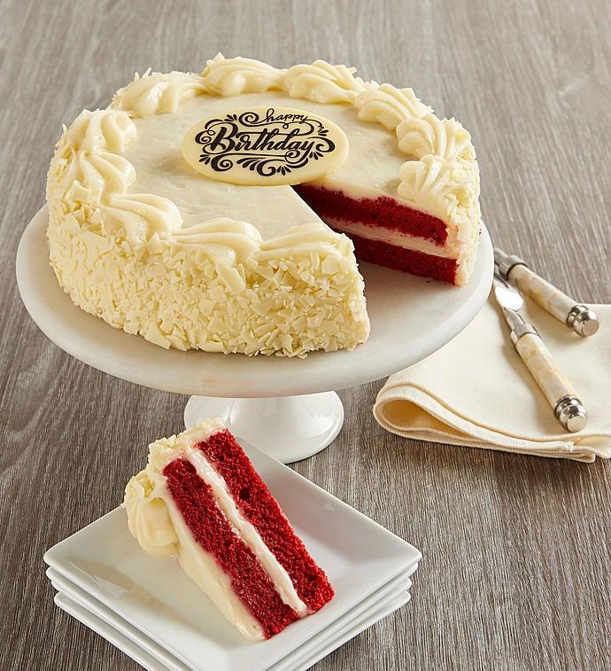 Bake Me A Wish! Happy Birthday Red Velvet Cake - Gift Basket Delivery