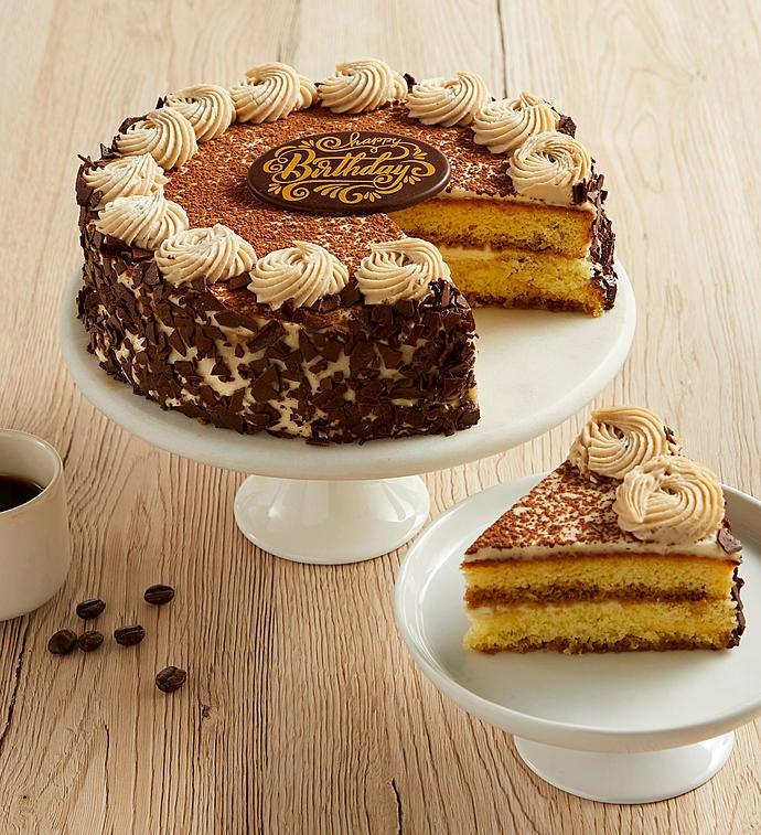 Pleasant Bake Me A Wish Happy Birthday Tiramisu Cake 1800Baskets Com Funny Birthday Cards Online Amentibdeldamsfinfo
