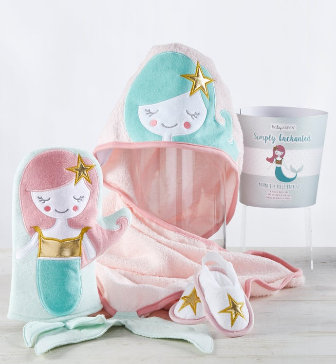 Simply Enchanted Mermaid 4pc Bathtime Gift Set