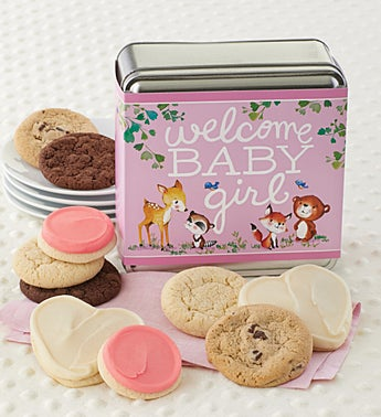 Cheryl's Welcome Baby Girl Assorted Tin