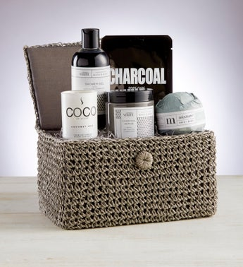 Soothing Charcoal Spa Basket