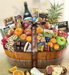 Thank You Fruit  Sweets Gift Basket Grande