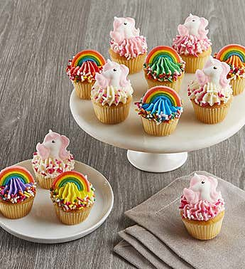 Little Whisk Mini Rainbow & Unicorn Cupcakes