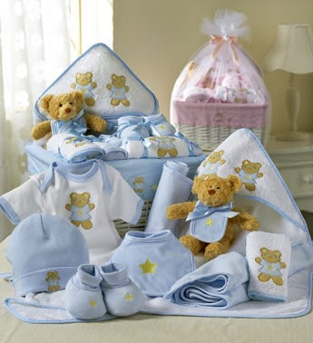 Comfy Baby Newborn Basket - Boy Or Girl-Comfy Baby Newborn Boy Basket
