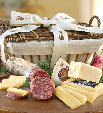 California crafted meat cheese gift basket negle Choice Image
