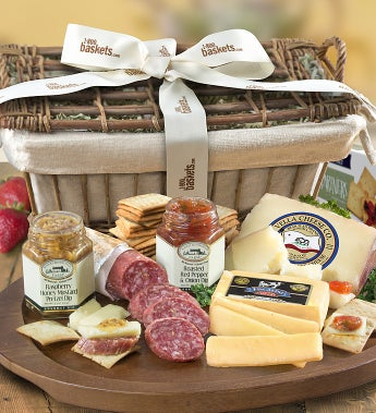Epicurean Meat & Cheese Gift Basket - Epicurean Meat & Cheese Basket