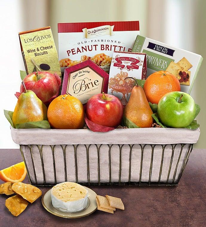Parisian Terrace Fruit Gift Basket-Parisian Fruit Gift Basket
