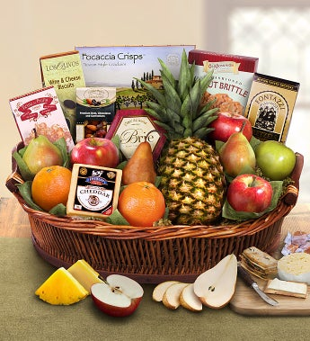 Ripe River Fruit & Cheese Gift Basket - Ripe River Fruit & Cheese Gift Basket
