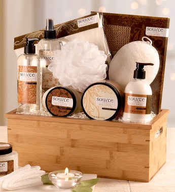 Sheer Vanilla Spa Gift Basket