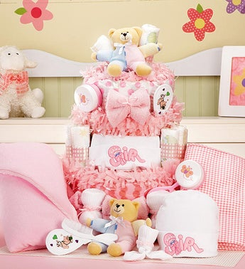 New Baby Girl Gift Basket Grand Essentials