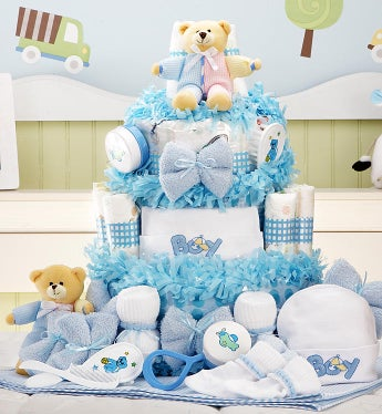 New Baby Boy Gift Basket Grand Essentials - New Baby Boy Gift Basket Grand Essentials