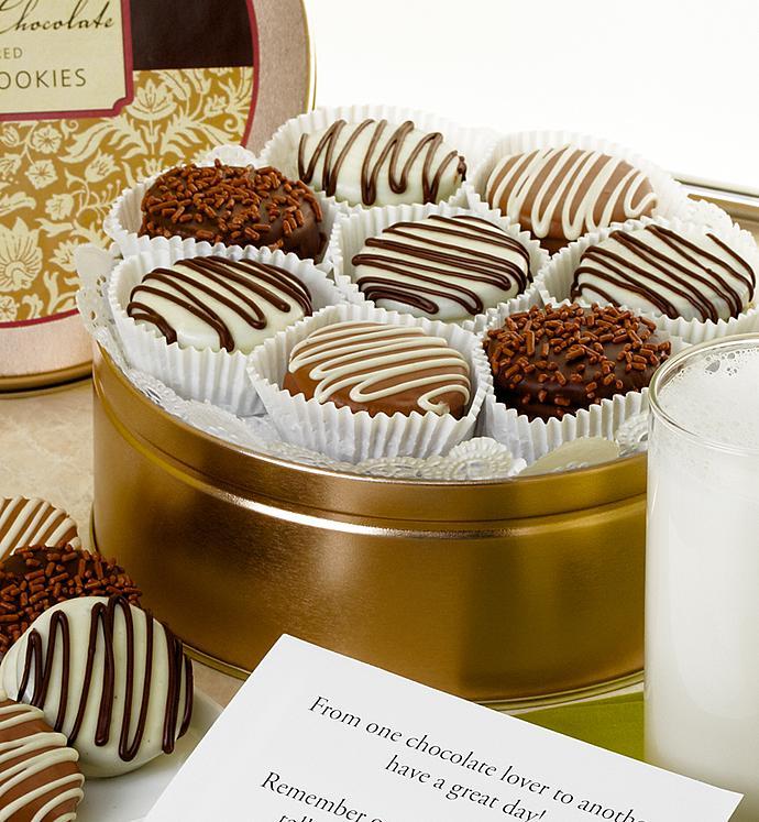 Classic Belgian Chocolate Covered Oreo® Tin - Classic Belgian Chocolate Covered Oreo® Tin