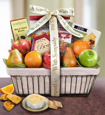 With Deepest Sympathy Fruit Basket - With Deepest Sympathy Fruit Basket