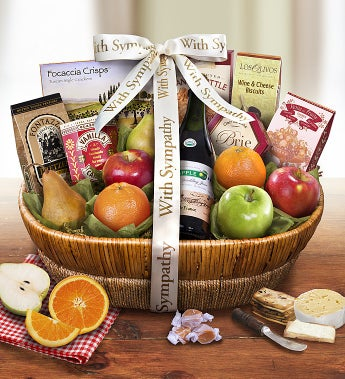 With All Our Love & Sympathy Fresh Fruit Basket-With All Our Love & Sympathy Fresh Fruit Basket