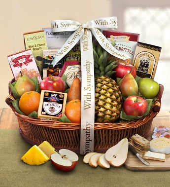 Sorry For Your Loss Sympathy Fruit Basket - Sorry For Your Loss Sympathy Fruit Basket