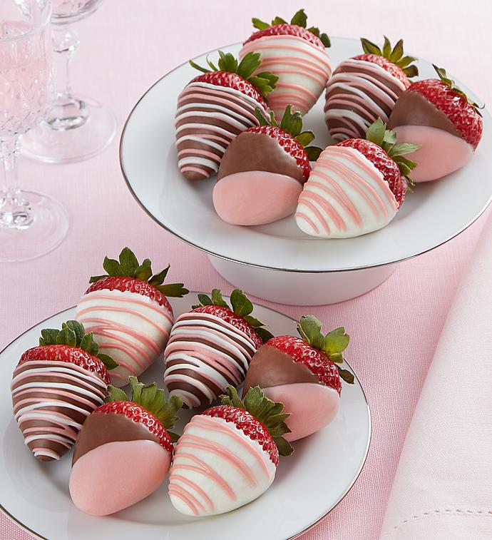 Pretty In Pink Dipped Strawberries