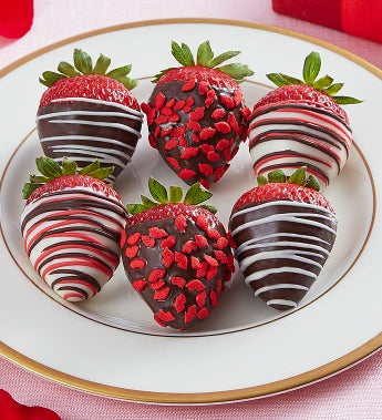 Cupid's Choice Chocolate Dipped Strawberries - Cupid's Choice Chocolate Dipped Strawberries 6 Count