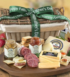 Fathers Day Epicurean Meat  Cheese Gift Basket