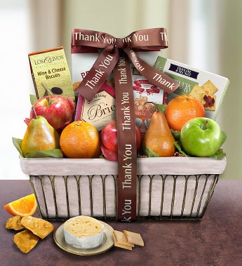 Thank You Parisian Terrace Fruit Gift Basket - Thank You Parisian Terrace Fruit Gift Basket