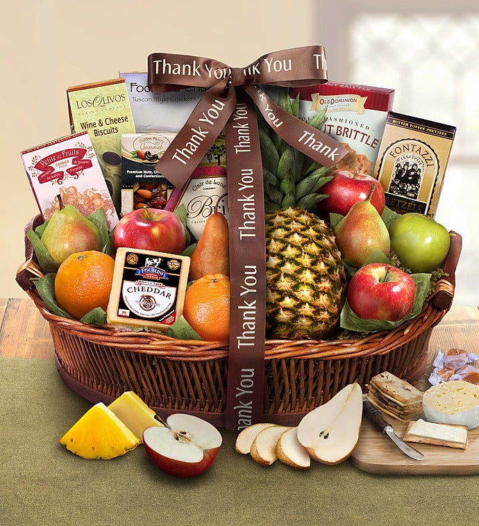 Thank You For Your Business Basket: Thank You Ripe River Harvest Basket