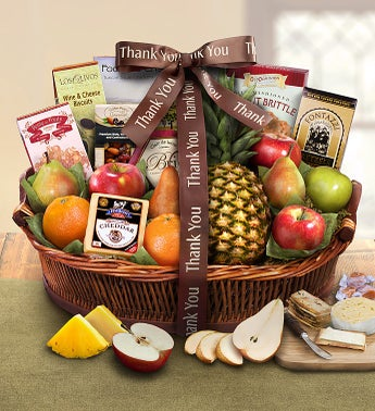 Thank You Ripe River Harvest Basket