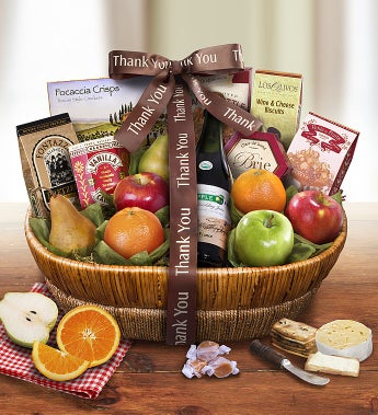 Thank You Tour D'arles Fruit Gift Basket by 1-800-Baskets