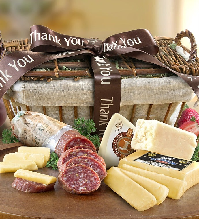 Thank You Californiamade Meat  Cheese Basket