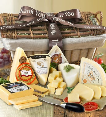Thank You Premium Handcrafted Cheese Gift Basket - Thank You Premium Handcrafted Cheese Gift Basket