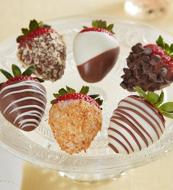Fannie May Deluxe Chocolate Covered Strawberries - Chocolate Covered Strawberries 6 Count
