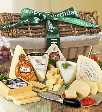Birthday Premium Handcrafted Cheeses Gift Basket