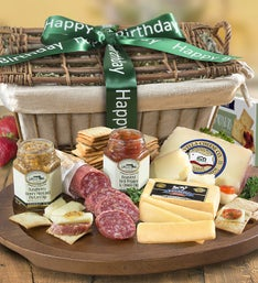 Birthday Deluxe Epicurean Meat  Cheese Basket
