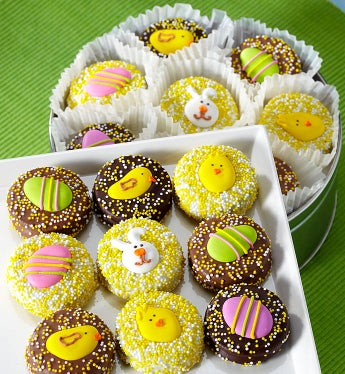 Happy Easter Belgian Chocolate Covered Oreo® Tin - Happy Easter Belgian Chocolate Covered Oreo® Tin
