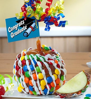 Congrats Graduate Caramel Apple with Candies