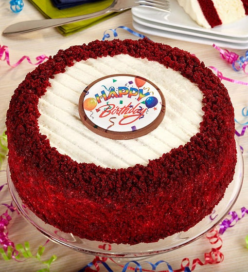 JuniorsR Happy Birthday Red Velvet Cheesecake