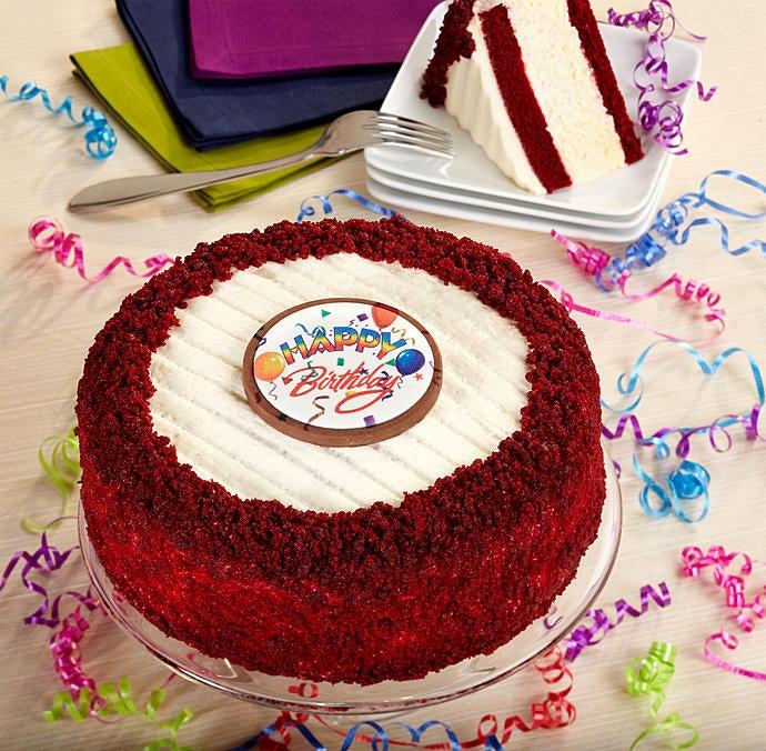 Juniors Happy Birthday Red Velvet Cheesecake1800Basketscom