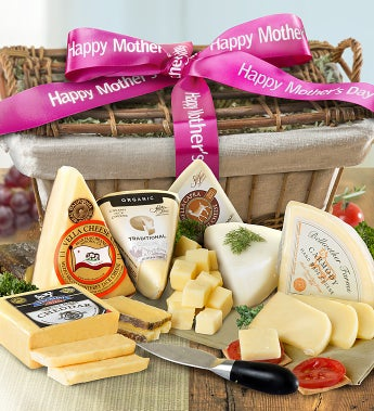 Happy Mother's Day Premium Cheeses Gift Basket