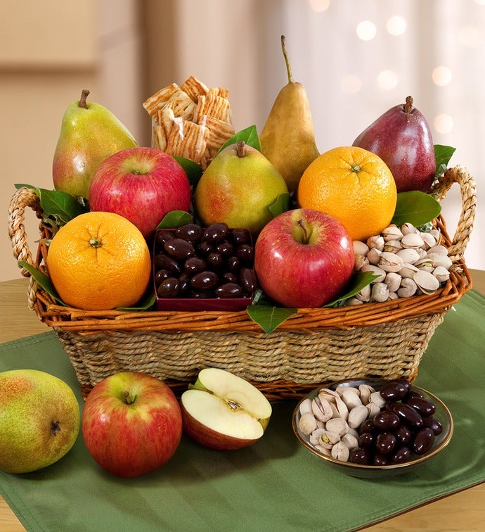Modesto Valley Fruit u0026 Nut Gift Basket & Fruit Gift Basket - 1800baskets.com 96093
