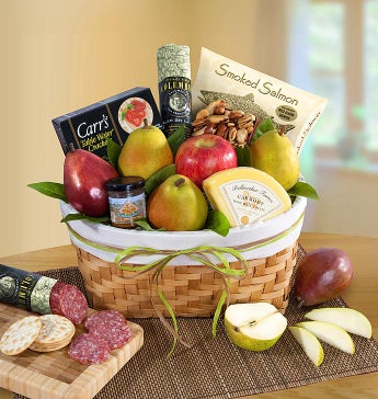 Pacific Northwest Fruit & Gourmet Gift Basket - Pacific Northwest Fruit & Gourmet Gift Basket