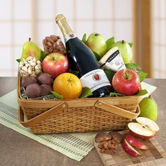 Distinctive Organic Fruit  Cheese Gift Basket