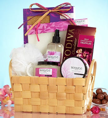 Loving Luxury Spa Gift Basket & Godiva® Chocolate