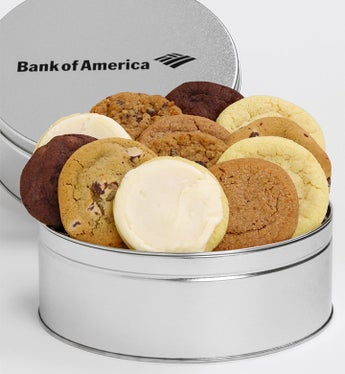 Bank Of America 12 Count Cheryls' Cookie Tin - Bank Of America 12 Count Cheryls' Cookie Tin