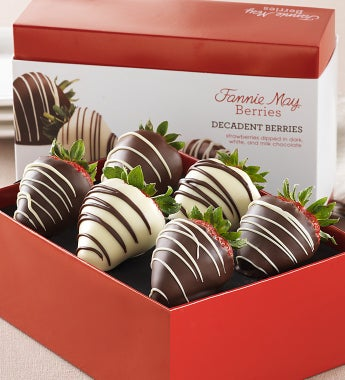 Fannie May® Decadent Chocolate Strawberries-Fannie May® Decadent Chocolate Strawberries 6Ct