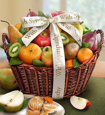 Wishing You Peace Sympathy Fruit Basket