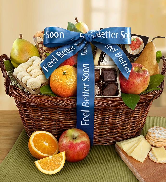 Vintage Get Well Fruit Gift Basket