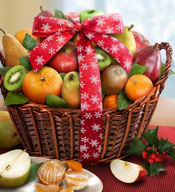 Premier Holiday Orchard Fruit Gift Basket