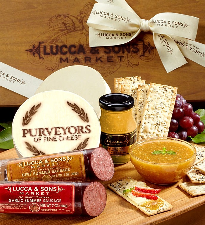 & Lucca u0026 Sons™ Sausage u0026 Cheese Gift Box
