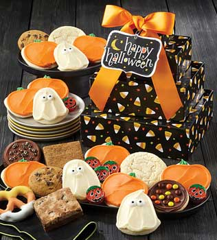 only treats halloween gift baskettrade source gift baskets and gourmet food 1800baskets com